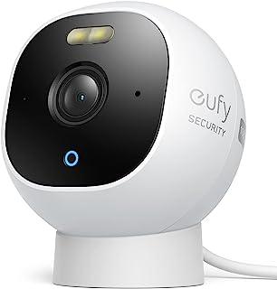 eufy Security Outdoor Camera, alles-in-één stand-alone bewakingscamera voor buiten, met 1080p resolutie, schijnwerpers, na...