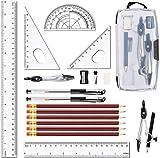 20 Piezas De Brújula Geométrica, Suministros Para Estudiantes, Brújula De Dibujo Conjun...