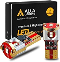 Alla Lighting Newest 194 LED Bulbs Super Bright T10 175 168 2825 W5W ZS SMD 12V LED Bulbs for Car License Plate Tag Interior Map Dome Trunk Courtesy Lights, 10000K Blue