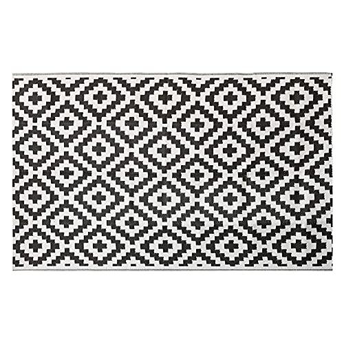 Niazi Alfombra de plástico Patio Mat Easy Clean, esterilla de picnic de doble cara, para interior y exterior
