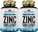 Oroline 50 MG ZINC Supplements for Immune Support - [2 Pack] Vitamin C and Zinc 50mg Supplement - Zinc Supplement for Adults - Best Zinc Capsules for Immunity Support - Immune Booster & Zinc Vitamin