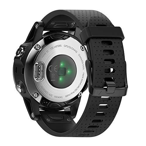 NotoCity Ersatzarmband Kompatibel mit Garmin Fenix 5s Armband für Fenix 5s / Fenix 5s Plus/Fenix 6s / Fenix 6s Pro Uhrenarmband, 20mm Breite Silikon Quick-Fit Armband(Schwarz)