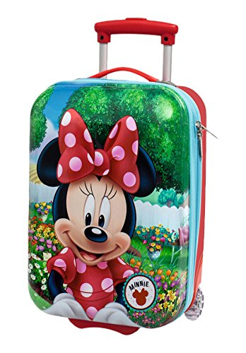 Disney Minnie Garden Bagaglio a Mano, ABS, Rosso, 48 cm
