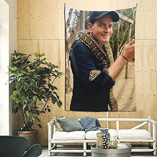 XCNGG Tapiz Charlie Sheen Tapices populares para colgar en la pared Manta de pared Arte de pared para sala de estar Dormitorio Dormitorio Hogar Decoración del hogar Manta de playa
