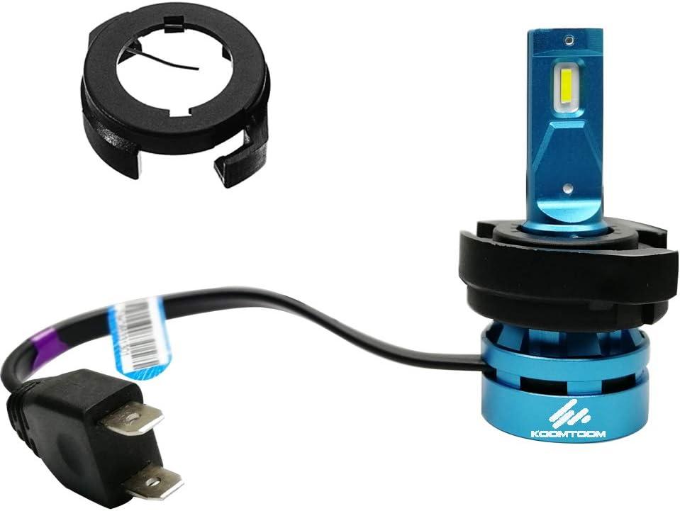 KOOMTOOM 2pcs H7 LED Bulbs Holder Base Adapter Bracket Retainer ...