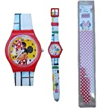 Star Licensing Orologio Minnie Disney da Polso Bambina ANALOGICO CONF. CM 25 - 35831ROSSO