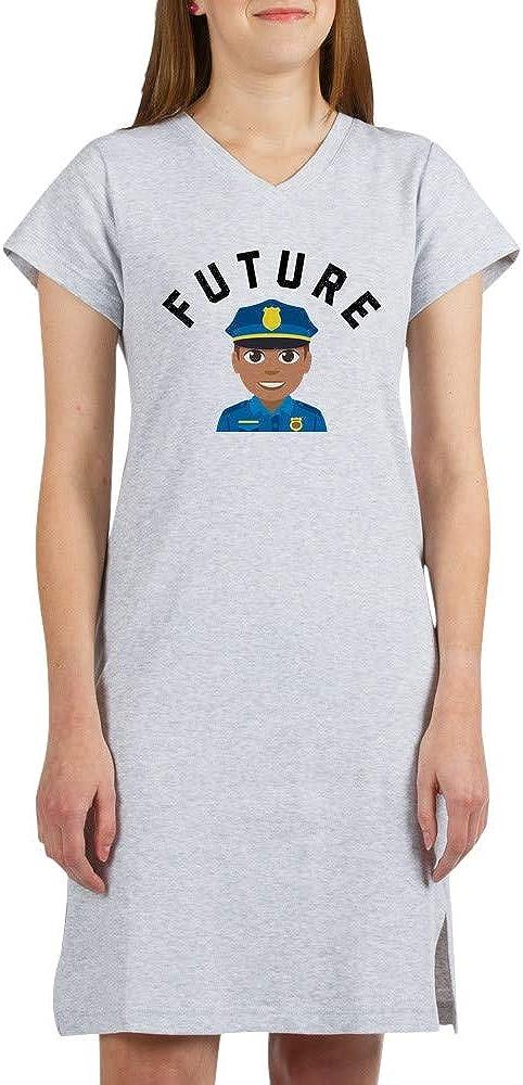 CafePress Emoji Outstanding Future OFFer Nightshirt Police