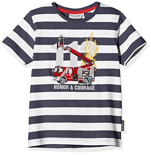 Salt & Pepper Jungen 03112131 T-Shirt, Blau (Navy 498), 116 (Herstellergröße: 116/122)