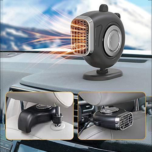 LMX Auto Heizlüfter 12V, Auto Heizung und Kühlventilator, Car Heater, Auto Defroster Demister, 2-in-1 Tragbar Windschutzscheiben Defroster Demister