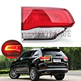 Clidr Lighting OE Fitment Rear Brake Tail Light Assembly for 2014-2019 Jeep Grand Cherokee [ CH2802105 68110047AB ] Inner Warning Light with Bulbs Left Driver Side LH