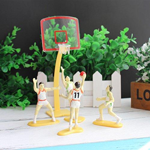 feiren 1 juego de baloncesto de equipo escena de juego de deporte, decoración de tartas, decoración de fiestas, cumpleaños, regalos, cocina, fondant Cake Stencil (color 1 juego)