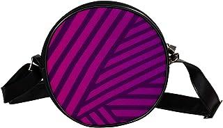 Coosun Umhängetasche mit Muster, Linien, Streifen, Textur, rund, für Kinder und Damen