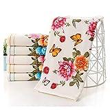 S-L Juego Toallas 100% Toallas de algodón y Toallas de baño Ladies Floral Playa Toallas Gimnasio Set para baño de Invitados Familiares (Color : Pink, Size : 2pcs 34x70 70x140)