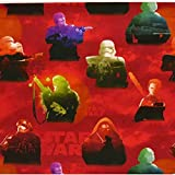 Baumwollstoff Disney Star Wars rot bunt 1,5m Breite