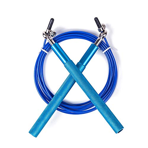 UQstyle Corde à sauter réglable pour améliorer, coordonner, renforcer et endurance, 3 m en métal, corde à sauter réglable F