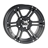 "ITP SS ALLOY SS212 Matte Black Wheel with Machined Finish (12x7""/4x110mm)"