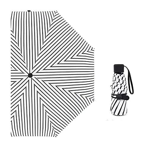 QIXIAOCYB Ombrelloni Pieghevoli Leggero Anti-ultravioletto Tasca da ombrellone, Ombrello a Mezzaluna in Vinile, ombrellone, ombrellone Pieghevole, ombrellone Pieghevole Cinque Volte Riutilizzabile a