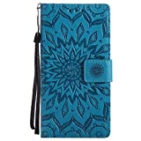 Dfly Nokia 3 Case, Premium Soft PU Leather Embossed Mandala