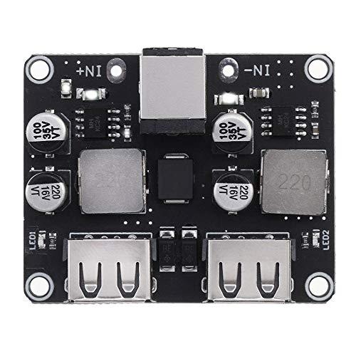 YINCHIE Mukuai22 USB QC3.0 QC2.0 DC-DC Buck Convertidor de Carga Módulo de Escala 6-32V 9V 12V 24V A Degradado Circuito rápido Placa de Circuito 3V 5V 12V Bricolaje (Color : 2CH)