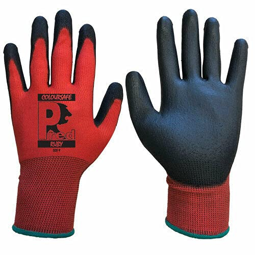 24 PAIRS NEW LATEX COATED WORK GLOVES SAFETY DURABLE GARDEN GRIP BUILDERS (XL-10)