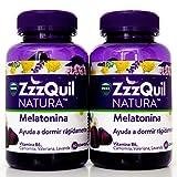 ZzzQuil Natura 60 gominolas con melatonina| Ayuda a Dormir Rápidamente| .- PACK 2 UN.