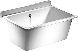 Sanit 60.003.01.0099 Bac à laver à trop-plein en Plastique, Blanc
