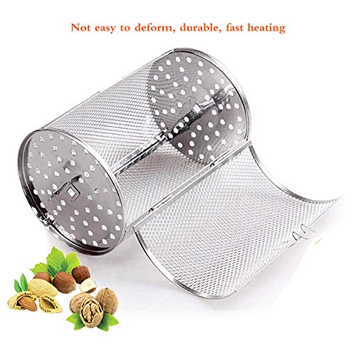 HITECHLIFE Grillrondell für Grillspieß, Universal Grillkorb für Drehspieß, 360 ° drehbar Tumbler Käfig für Rotisserie 22 * 12CM