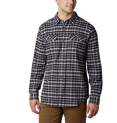 Columbia Men's Flare Gun Stretch Flannel, Shark Grid, 6X