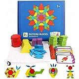 162 Piezas Viajes Tangram Puzzle Rompecabezas de Formas Geométricas Montessori Tangram Puzzle Para el Desarrollo Intelectual de Los Niños Rompecabezas de Colores para Niños con 24 Tarjetas de Diseño