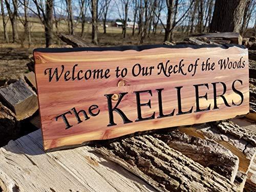 Placa de madera para decoración al aire libre, letrero personalizado de madera de cedro pintado a mano para colgar en la...