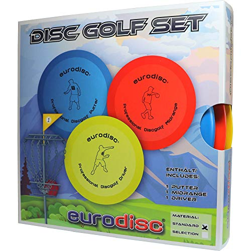 eurodisc Disc Golf Set/Starter Kit SQU Putter Midrange Driver pour debutants