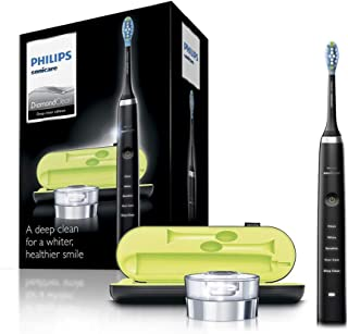 Philips Sonicare DiamondClean Electric Toothbrush, 2019 Edition, Black (SG 2-pin Bathroom Plug with USB Travel Charger)