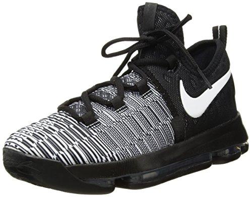 Nike Zoom KD9 (GS), Zapatillas de Baloncesto para Niños, Blanco (Black/White), 35 1/2 EU