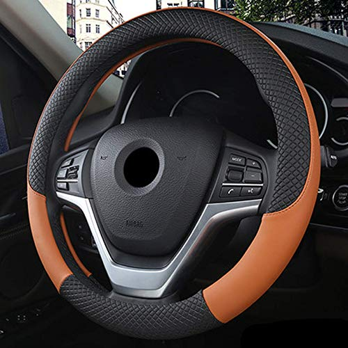 Funda de cuero para volante antideslizante, para Kia Rio 2 3 4 5 I II IIII IV V Rio X-line 2000-2020 Accesorios para automóviles