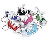 Rhode Island Novelty 3 Inch Chuck Sneaker Shoe Keychains Lot of 24 Assortments May Vary