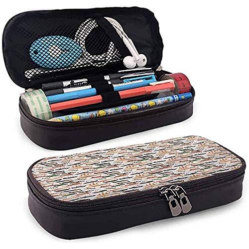 Bleistiftbeutel, federmäppchen tasche, federmäppchen, große kapazität gummiband schiff schiffe boote galeonen anker 20 cm * 9 cm * 4 cm