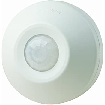 Leviton ODC0S-I1W Self-Contained Ceiling-Mount Occupancy Sensor and  Switching Relay, 1000-Watt, 120-Volt, White - Motion Detectors - Amazon.comAmazon.com