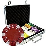 Dice - Maletín de 200 fichas de poker de plástico ABS, 12 g, con accesorios