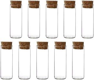 Scicalife 10St Glas Förvaring Teströr Med Kork Proppar För Godis Te Piller Eteriska Olja Pulver Badsalt Granuler Ört