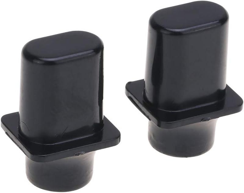 Musiclily Pro Tamaño Métrico Top Hat Botón Selector Pastillas Tipo Telecaster de 3 Posiciones Switch Tips para Guitarra Import Estilo Squier Tele, Negro(2 Piezas)