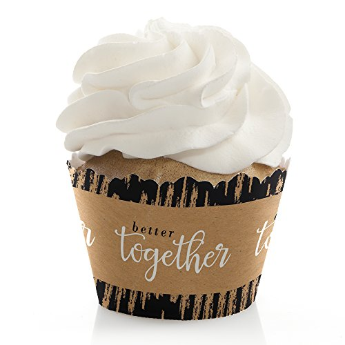 Big Dot of Happiness Better Together - Wedding Decorations - Party Cupcake Wrappers - Set of 12