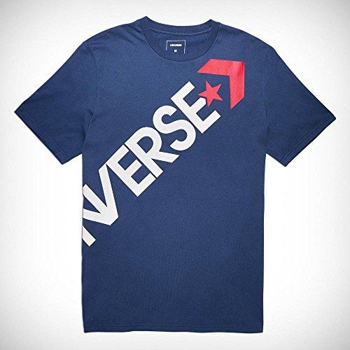 Converse Cross Body Tee T-Shirt pour Homme XS Noir Obsidienne foncé