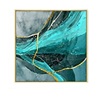 A-Fort キッチン壁画レストラン装飾絵画レストラン抽象芸術シングルスクエア壁画クリエイティブ人格組み合わせ絵画 (Color : Wooden frame, Size : 80×80cm)