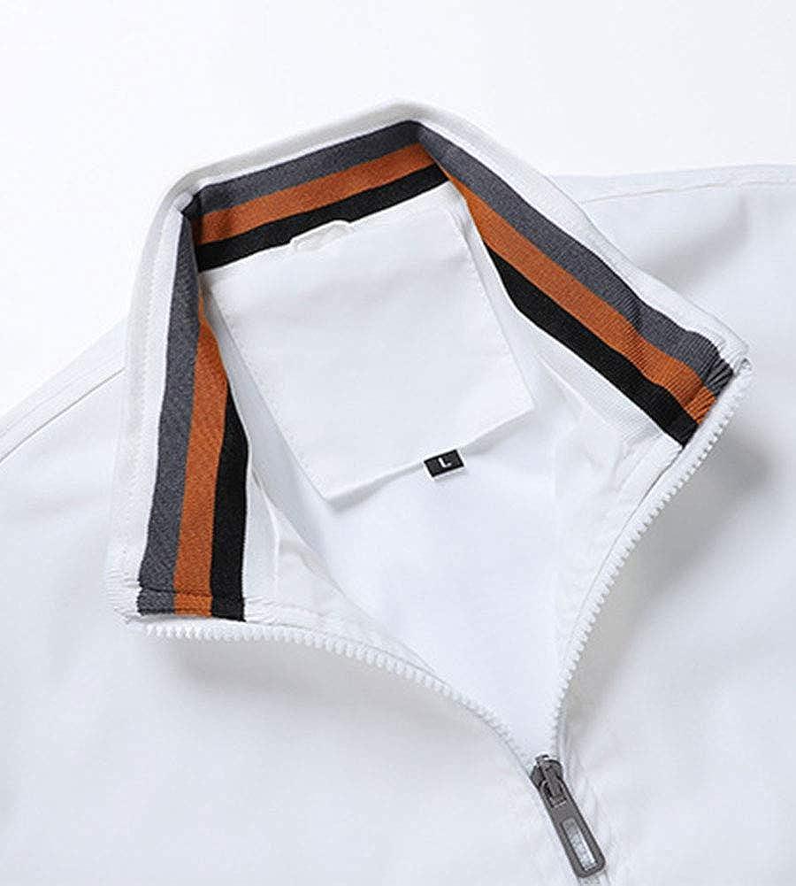 SCOFEEL Men's Lightweight Bomber Jacket Slim Fit Waterproof Windbreaker Outerwear Coat