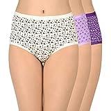 Amante Printed Full Converage Cotton Full Brief Panty Pack (Pack of 3) C335 Print Medium