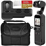 DJI Pocket 2 Handheld Gimbal Stabilizer with Integrated Camera & DJI Part 6 Controller Wheel Starters Bundle for Osmo Pocket and Pocket 2 - Includes: Memory Card, Carrying Case & More