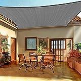 Emooqi Sonnensegel Rechteckig, Rechteckig Sonnensege 3x4M Sonnenschutz Atmungsaktiv HDPE UV Schutz, Permeable Canopy Rechteck Sonnensegel Terrasse für Balkon Garten Patio Camping -Dunkelgrau