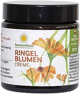 Sonnenmoor Ringelblumensalbe - im 90g Glastiegel - Naturkosmetik Creme zur Pflege von trockener, rauer und rissiger Haut