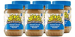 SunButter Natural Crunch Sunflower Seed Spread, 16-Ounce Plastic Jars (Pack of 6) : Peanut Butter