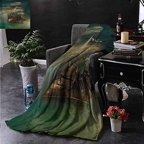 ZSUO bont gooien deken Illustratie van Drie Hoofd Vuur Ademhaling Draak Grote Monster Gotische Thema Binnen/buiten, Comfortabel voor alle seizoenen